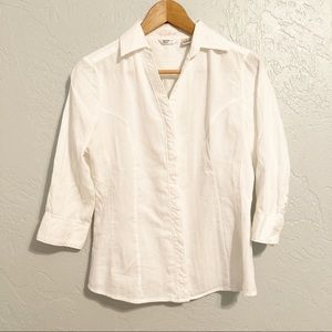 Lee Riders White Button Up Shirt Small